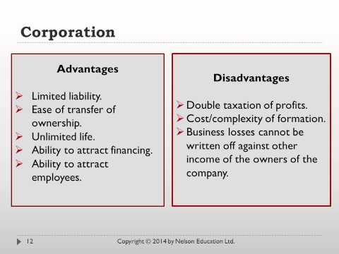 Chapter 8 Forms of Business Organization