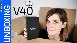 LG V40 unboxing - 5 CÁMARAS para todos- Video
