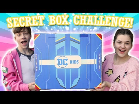 DC Kids Secret Box Challenge! Starfire & Robin Get Married!