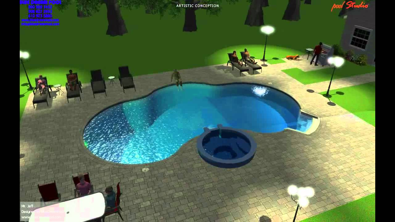 3d Swimming Pool Design  3d Inground Pool Design   In Ground 3d Pool Design    YouTube