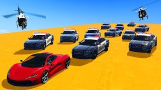 CLOSEST POLICE CHASE EVER! (GTA 5 Funny Moments)