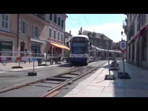 """Trams de Genève (TPG) sur """"aiguilles volantes"""""""