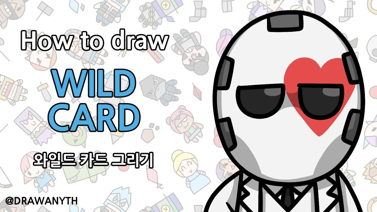 How to draw WILD CARD   fortnite #1
