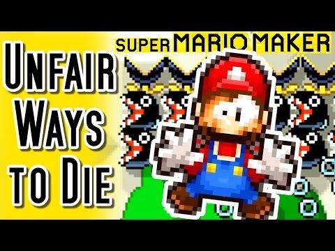 Super Mario Maker TOP 20 UNFAIR WAYS to DIE (Wii U)
