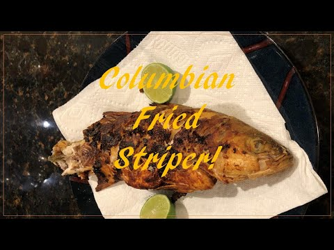 Columbian Fried Striper Recipe (Great For Grouper Or Snapper)