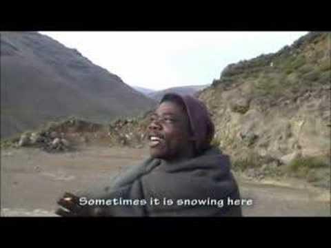 Basotho shepherd in Lesotho