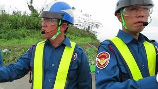 網で市民を排除するテイケイの警備員