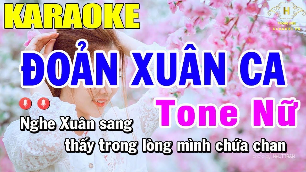 karaoke Đoản Xuân Ca Tone Nữ Nhạc Sống | Trọng Hiếu