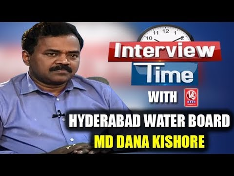 Interview Time With Hyderabad Water Board MD Dana Kishore | V6 News
