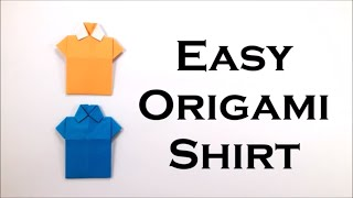 Easy Origami T-shirt - DIY Easy Origami Tutorial