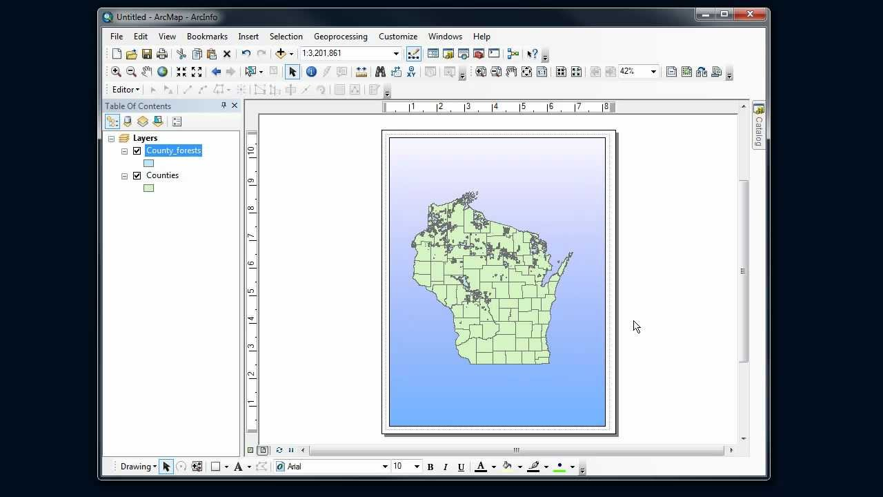 ArcMap Tips - Backgrounds