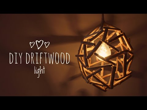 DIY LAMP / Driftwood Pendant Light   Dhara Patel