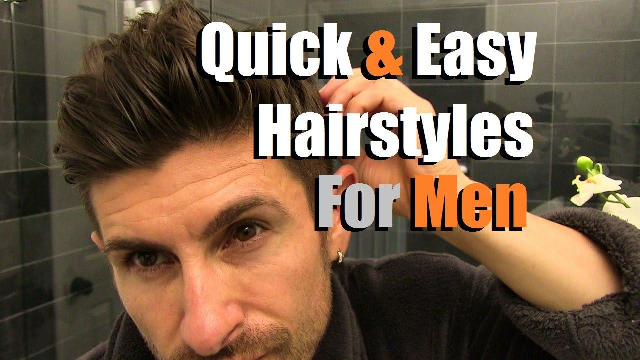 2 Quick U0026 Easy Menu0027s Hairstyles That Look AWESOME! Menu0027s Hair Tutorial    YouTube