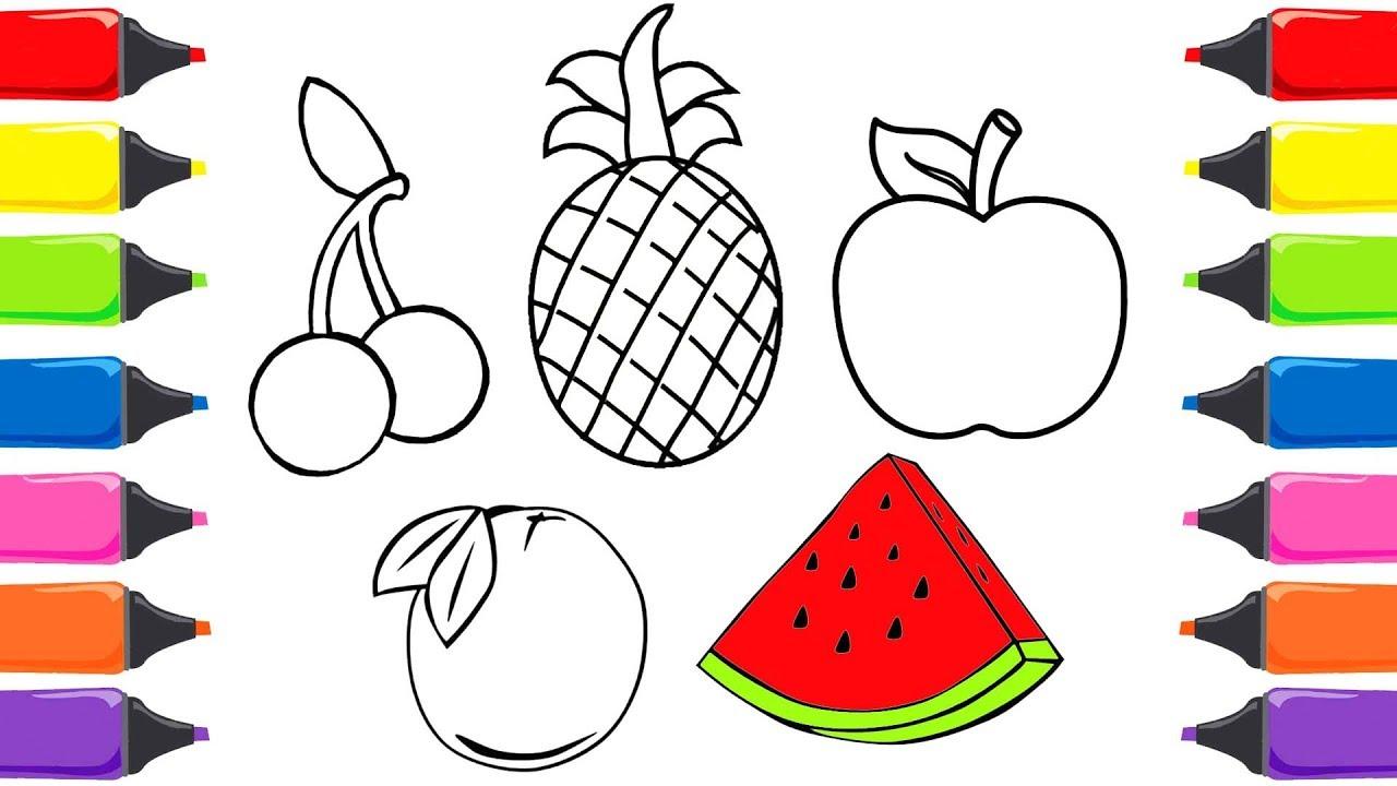 Elma Ananas Kiraz Meyveleri öğreniyorum Meyveler Türkçe Meyveler