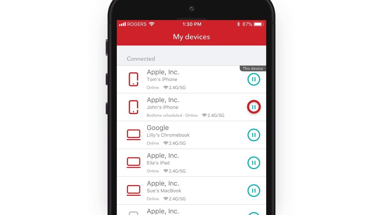 Pause WiFi Access on the MyWiFi App