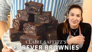BROWNIE recipe from Dessert Person - Testing Claire Saffitz&#39s malted forever brownies