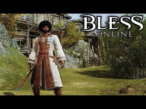 BLESS ONLINE - Mage Zerbob Ross - Let's Play Bless Online Steam US Gameplay Part 1 (Story Questing)