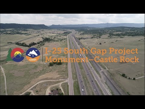 I-25 South Gap: Monument to Castle Rock —