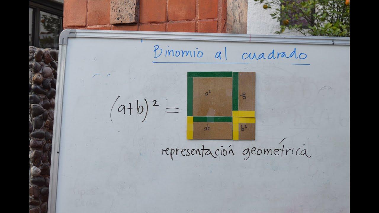 Binomio al cuadrado: representación geométrica - YouTube