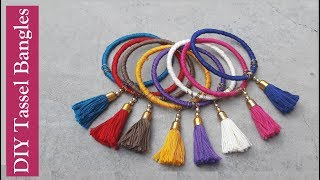 Tassel bangles//How to make thread bangles at home easy//Creation&you