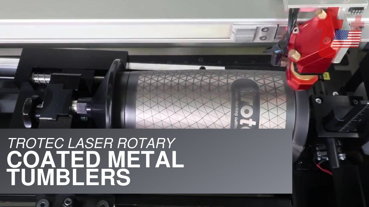 408b88324f0 Laser Engraving with Rotary: Coated Metal Tumblers - YouTube