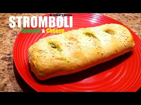 Spinach and cheese stromboli – Easy recipe