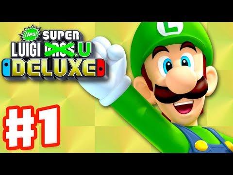 New Super Luigi U Deluxe - Gameplay Walkthrough Part 1 - Acorn Plains 100% Nintendo Switch