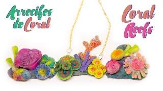 Haz tus propios Arrecifes de Coral ♥ PORCELANA FRÍA♥Como Pintar con Sombras de Ojos♥Clay Coral Reefs