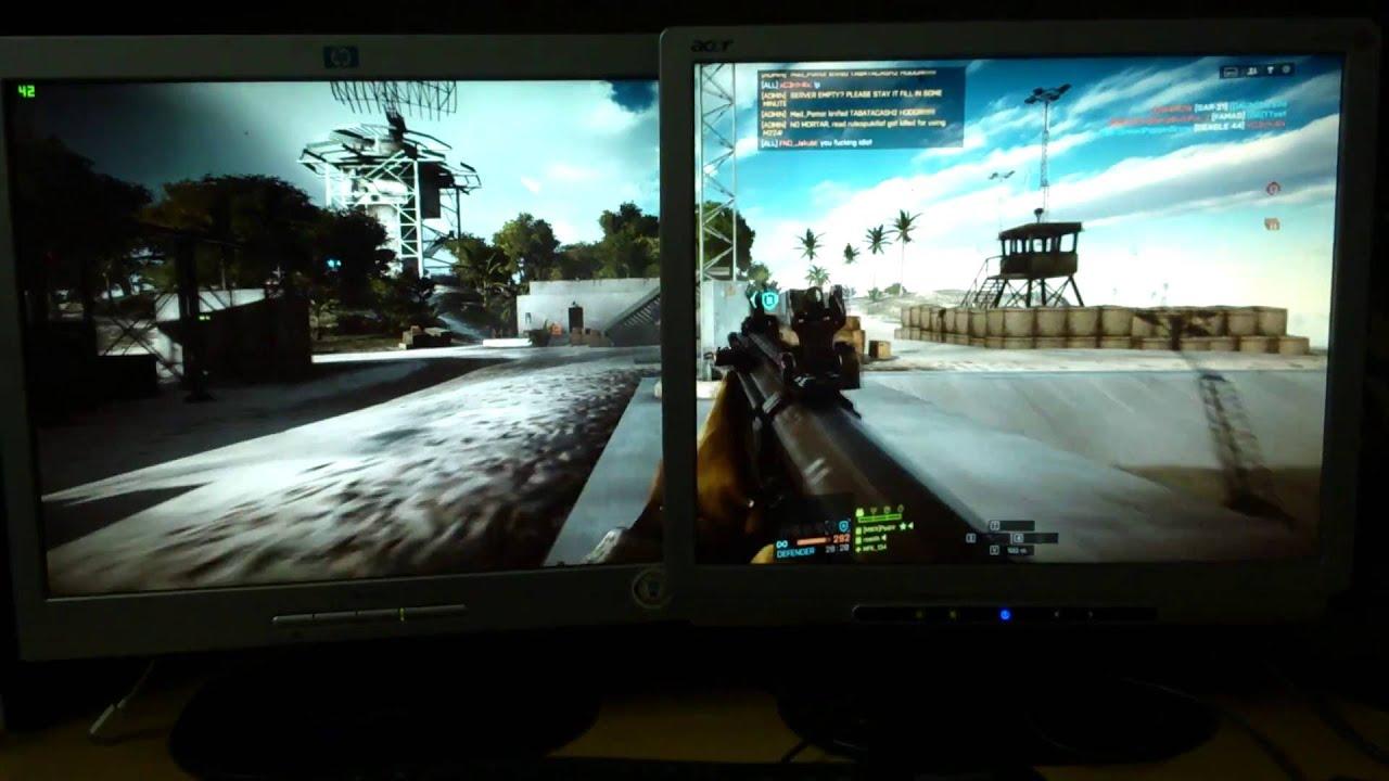 Battlefield 4 - Nvidia Surround with 2 Monitors - Nvidia geforce GTX 750 ti  - 2560x1024