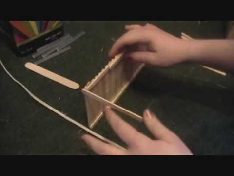 How To Make A Breyer Barn Out Of Popsicle Sticks Part 1