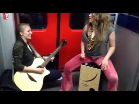 Subway jam 2 Frankfurt S-bahn Heidi Joubert featuring Kiddo Kat & random passenger joining in