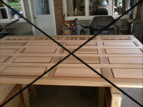 diy garage doormy garage door 0001  YouTube