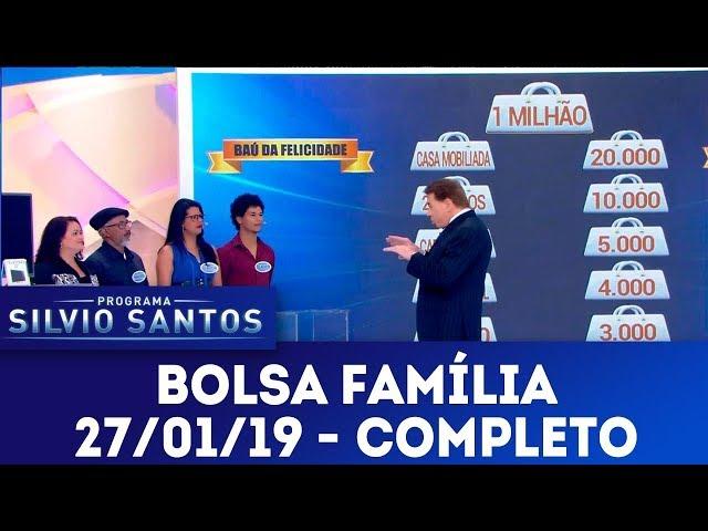Bolsa Família - Completo | Programa Silvio Santos (27/01/19)