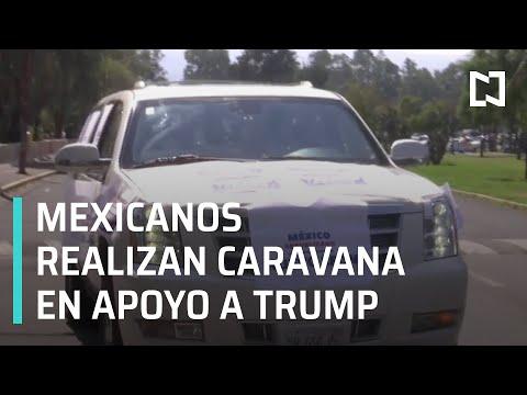Mexicanos realizan caravana en apoyo a Trump en México - Las Noticias