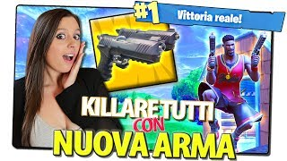 REAL VITTORY KILLANDO ALL WITH THE GUN THE new weapon of Fortnite
