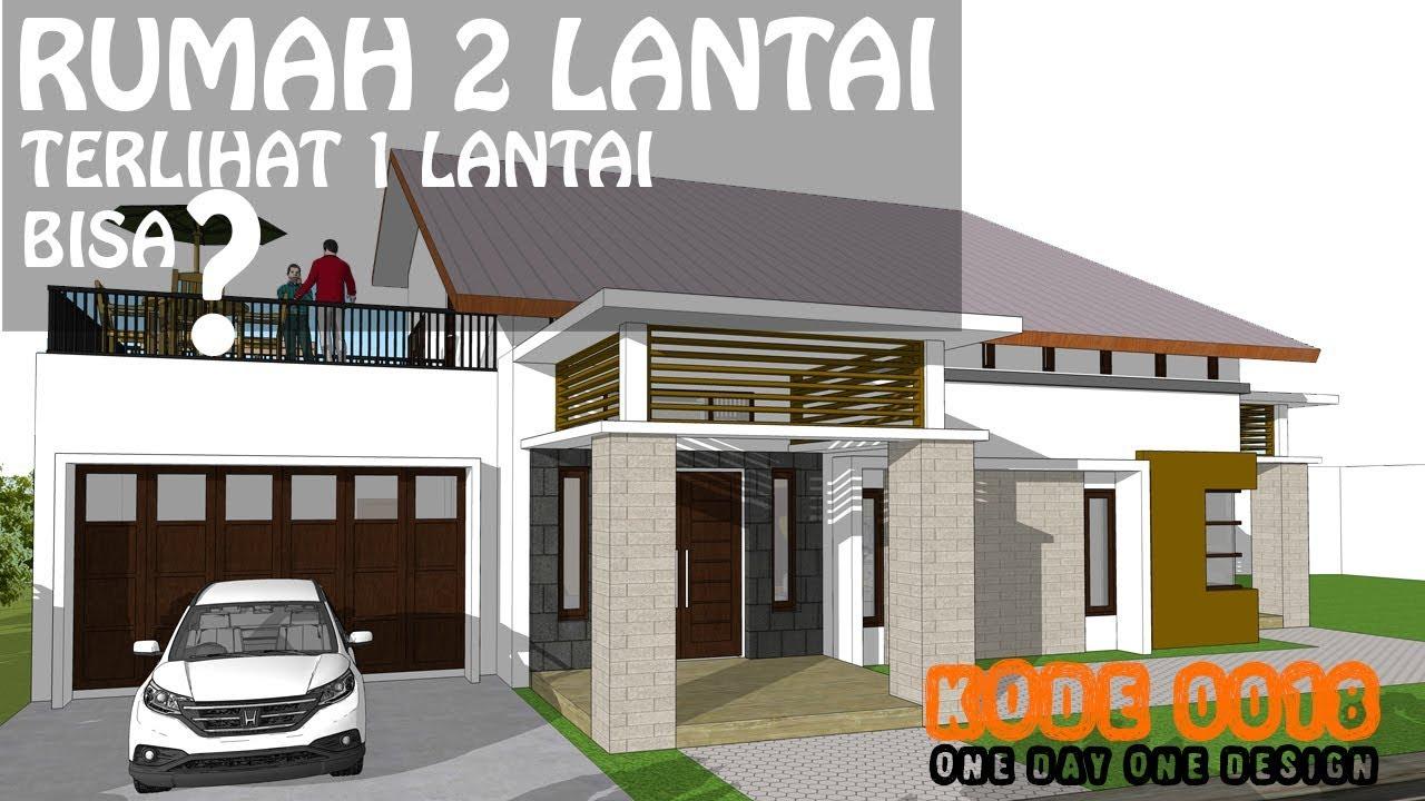Desain Rumah Minimalis 2 Lantai Terlihat 1 Lantai Kode 0018 Youtube