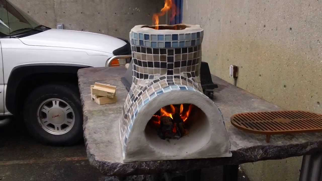 Small rocket stove for cooking decorative part 1 youtube for How to make a small stove