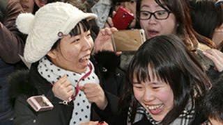 北海道内公立高の合格発表 約3万3900人に「春」(2015/03/17) 北海道新聞