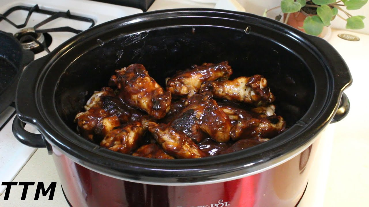 How to make Good Chicken Wings in the Crock Pot~Easy Slow Cooker Party Wings - YouTube