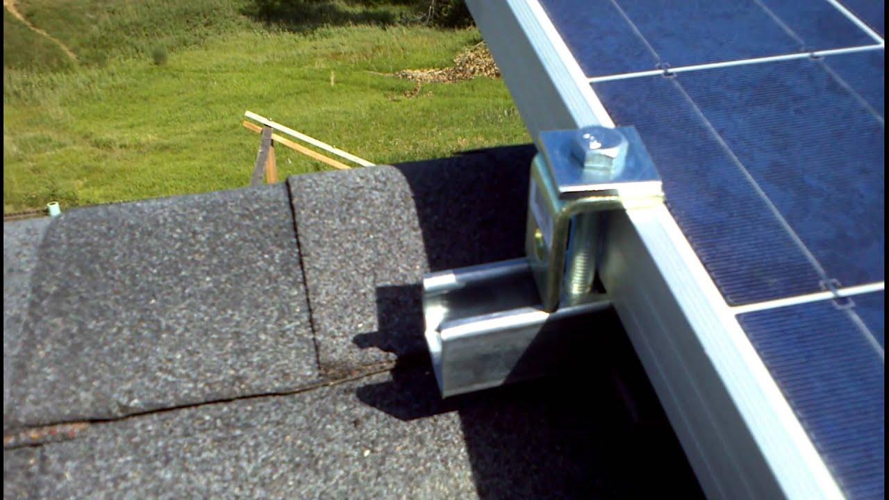 Unistrut Solar Panel Connection Youtube