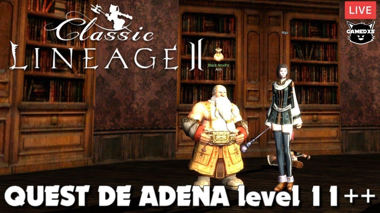 Lineage 2 Classic 1 5 NA - Quest de Adena level 11+ (3,400a cada 15min)