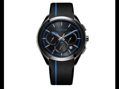 COMTEX 腕時計 ブラック スポーツ クロノグラ クフ ウオッチォーツ 時計 メンズ … (ブール)