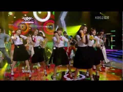 [HD]110729 KBS音樂銀行LIVE T-ARA - Roly-Poly - 1080p