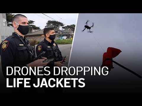 Watch: Drones Capable of Dropping Life Jackets During Water Rescues