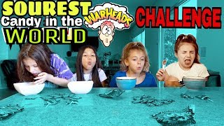TRYING SOUREST CANDY IN THE WORLD CHALLENGE!! Warheads, Spicy lollipops, Sour Lemons |Txunamy