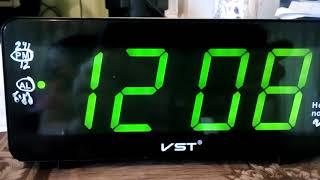Як вимкнути будильники говорять годинник VST-763