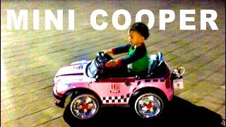 Nyoba Naik Mobil Mobilan Mini Cooper | Mainan Anak Odong Odong