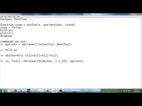 MATLAB - 1 - Use Output Function In Optimization Function - YouTube