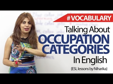 Talking about careers and Jobs in English. - Free Spoken English and Vocabulary Lesson.