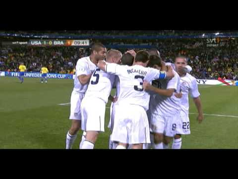 Clint Dempsey 1-0 - USA v Brazil - Confederations Cup Final 2009